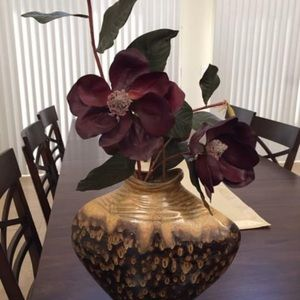 Z Gallerie Vase and Red Orchid Floral Arrangement